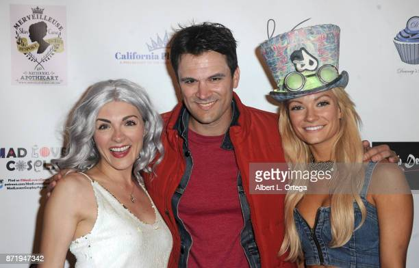 Chantelle Albers Kash Hovey and Caitlin O'Connor attend Halloween Hotness 4 Heating Up For The Cure held at American Legion Hall on October 15 2017...