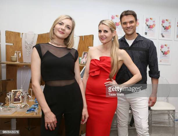 Chantelle Albers Kathy Kolla and Kash Hover attend Kollectin Fashion Jewelry popup night on June 21 2018 in Los Angeles California