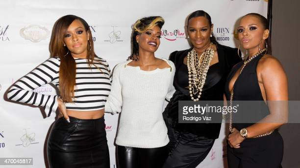 Chantelle Christie and actresses Ariane Davis Jackie Christie and Sundy Carter attend the Basketball Wives LA Season Premiere Party at Allure Studios...
