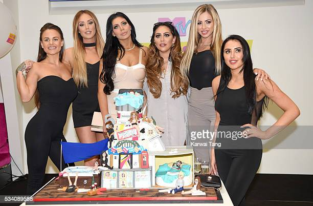 Chantelle Connelly Charlotte Crosby Chloe Etherington Sophie Kasaei Holly Hagan and Marnie Simpson arrive for the 5th birthday Celebrations of...