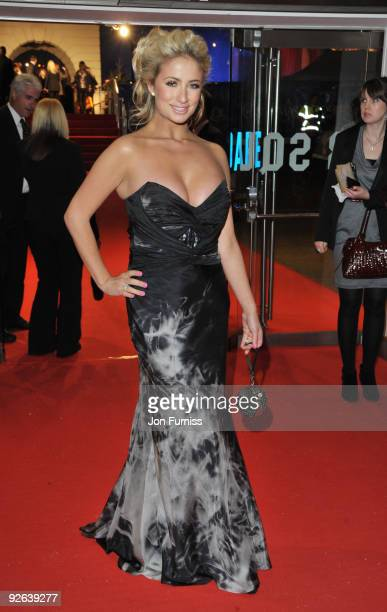 Chantelle Houghton attends the World Premiere of 'A Christmas Carol' at the Odeon Leicester Square on November 3 2009 in London England