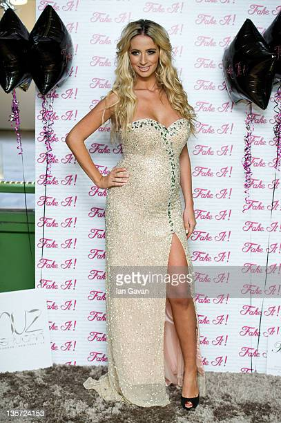 Chantelle Houghton launches 'Fake It' eyelashes in association with Amazing Lashes at The Beauty Lounge on December 13 2011 in London England