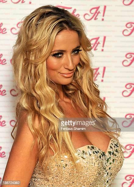 Chantelle Houghton launches false eyelashes range Fake It at The Beauty Lounge on December 13 2011 in London England