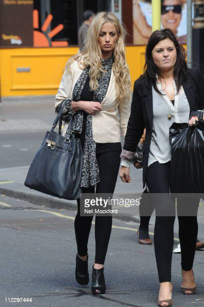 Chantelle Houghton sighted after her split from boyfriend Rav Wilding on April 18 2011 in London England