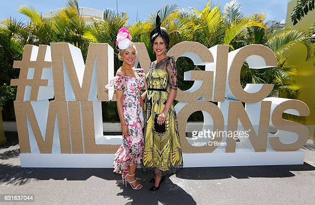 Chantelle Kenyon and Stacie Galeano attend Magic Millions Raceday on January 14 2017 in Gold Coast Australia