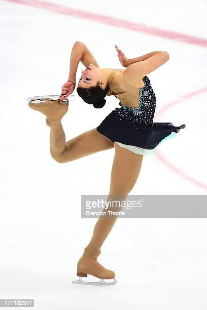Chantelle Kerry of Australia competes in the Senior Ladies Free Program during Skate Down Under at Canterbury Olympic Ice Rink on August 22 2013 in...