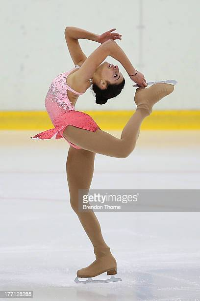 Chantelle Kerry of Australia competes in the Senior Ladies Short Program during Skate Down Under at Canterbury Olympic Ice Rink on August 21 2013 in...