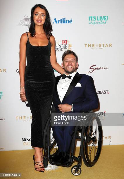 Chantelle Otten and Dylan Alcott arrive at the 61st Annual TV WEEK Logie Awards at The Star Gold Coast on June 30 2019 on the Gold Coast Australia