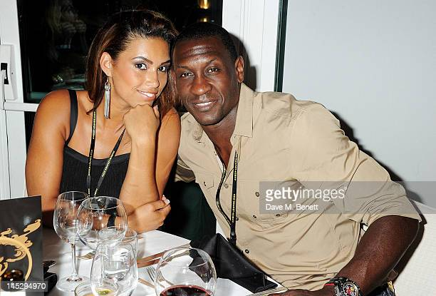 Chantelle Tagoe and footballer Emile Heskey attend a party celebrating Amber Lounge Fashion Monaco 2012 at Le Meridien Beach Plaza Hotel on May 25...