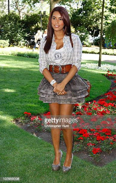 Chantelle Tagoe attends the afterparty following the UK film premiere of 'Toy Story 3' at Whitehall Gardens on July 18 2010 in London England