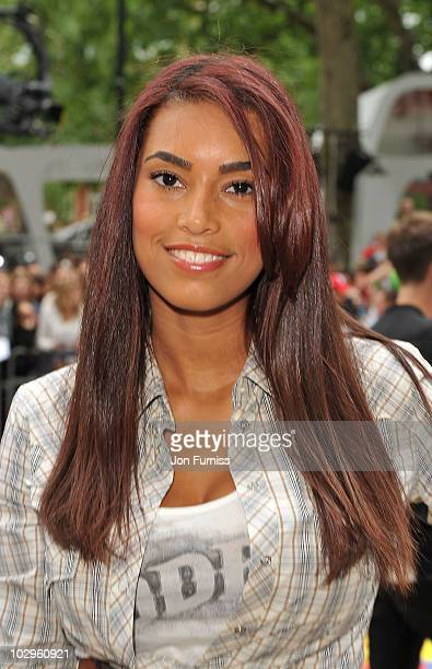 Chantelle Tagoe attends the UK premiere of Toy Story 3 at Empire Leicester Square on July 18 2010 in London England