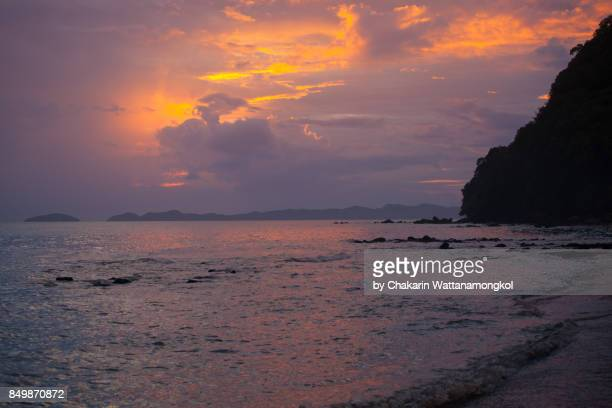 chanthaburi rural scene - sea scape. - chanthaburi sea stock pictures, royalty-free photos & images