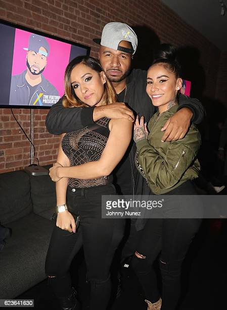 Chanti McCoy DJ Suss One and Aggy Abby attend DJ Suss One Birthday Celebration at The Loft on November 15 2016 in New York City