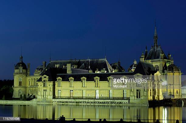 Chantilly Castle at dusk Chantilly Picardy region France