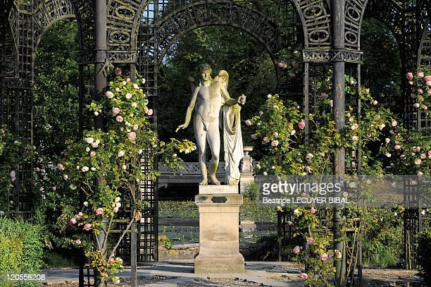 Chantilly Castle The English Gardens Oise In Chantilly France In 2009 Ile D amour and the Statue of Eros