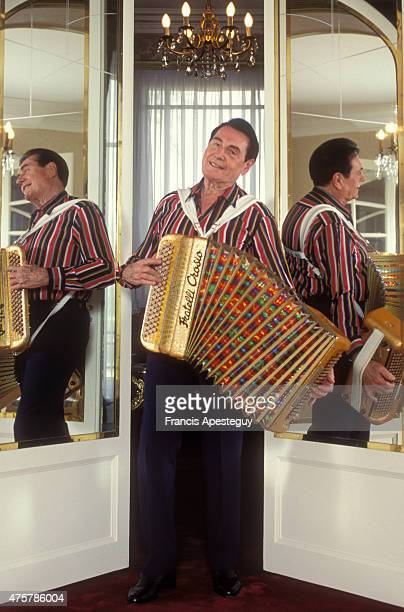 Chantilly France Andre Verchuren musician with his accordion at home
