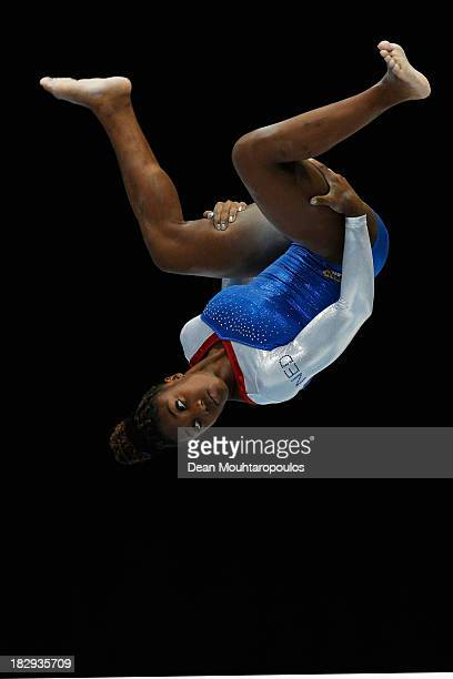 Chantysha Netteb of the Netherlands competes in the Womens Balance Beam Qualification on Day Three of the Artistic Gymnastics World Championships...