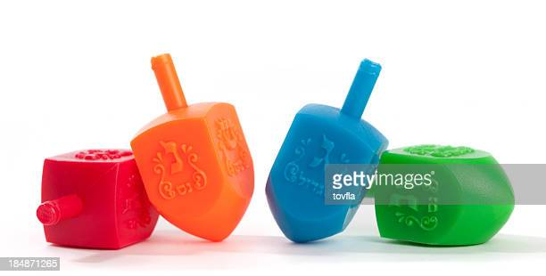 chanukah dreidels - dreidel stock photos and pictures