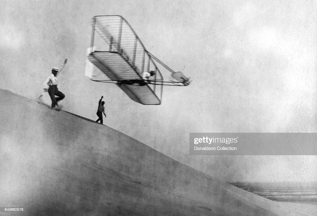 The Wright Brothers In Kitty Hawk : News Photo