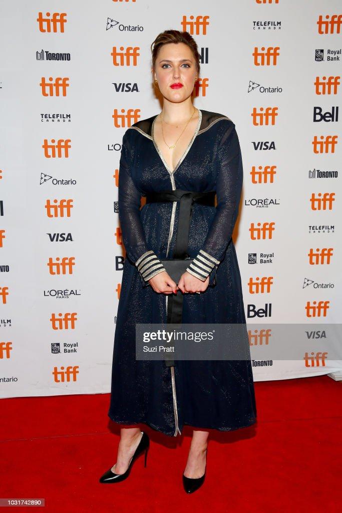 Chanya Button attends the 'Vita & Virginia' premiere during 2018 Toronto International Film Festival at Winter Garden Theatre on September 11, 2018 in Toronto, Canada.