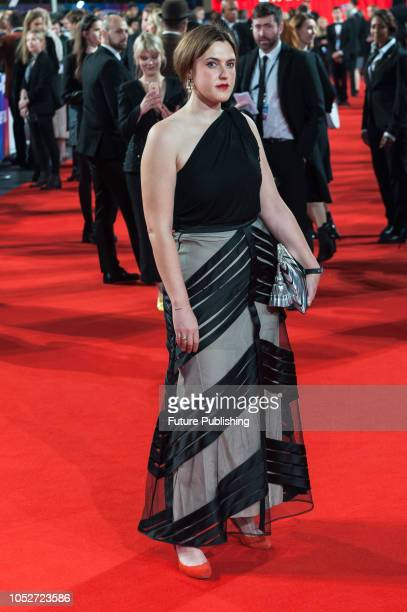Chanya Button attends the World Premiere of 'Stan & Ollie' at Cineworld, Leicester Square, during the 62nd London Film Festival Closing Night Gala....