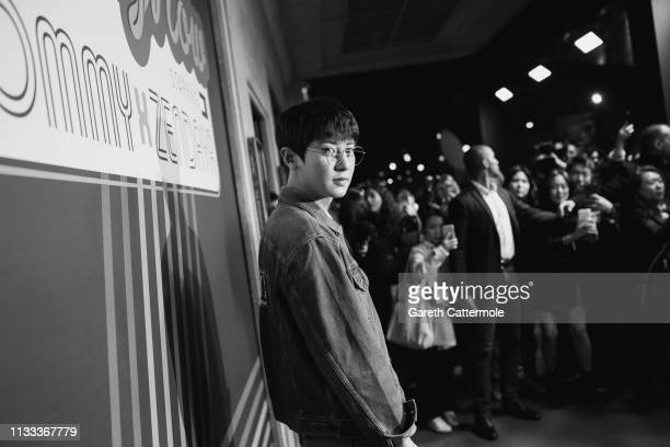 Chanyeol arrives at the Tommy Hilfiger TOMMYNOW Spring 2019 TommyXZendaya Premieres at Theatre des ChampsElysees on March 02 2019 in Paris France