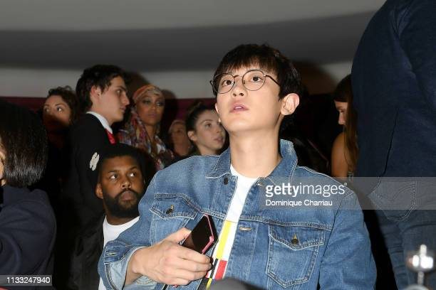 Chanyeol attends the Tommy Hilfiger TOMMYNOW Spring 2019 TommyXZendaya Premieres at Theatre des ChampsElysees on March 02 2019 in Paris France