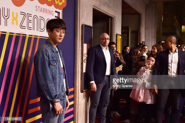 Chanyeol Park attends the Tommy Hilfiger TOMMYNOW Spring 2019 TommyXZendaya Premieres at Theatre des ChampsElysees on March 02 2019 in Paris France