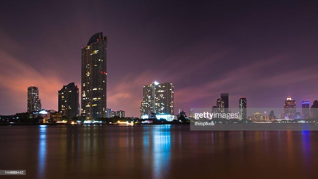 Chao Phraya Cityscape : Stock Photo
