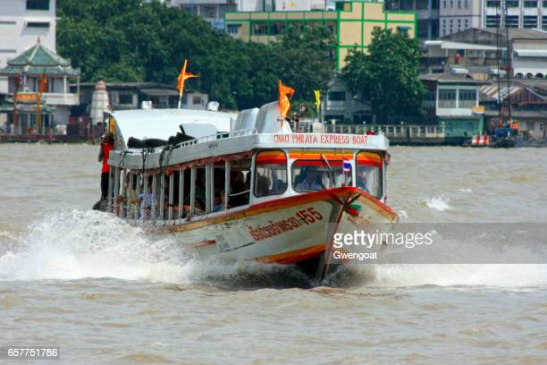 chao phraya express boat - gwengoat stock pictures, royalty-free photos & images