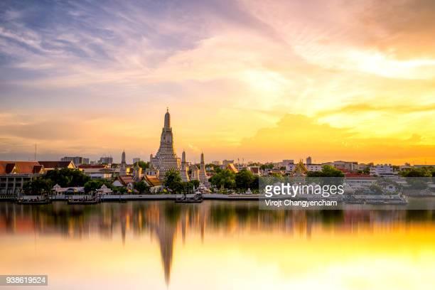 chao phraya riverside - bangkok stock pictures, royalty-free photos & images
