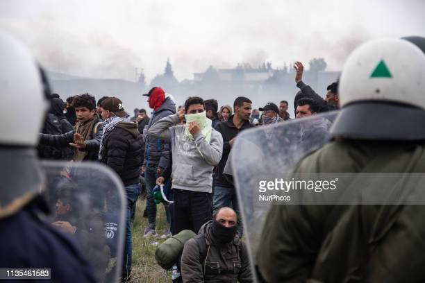 Chaos with clashes between refugees, migrants and the police. Migrants tried to march to the Northern Greek borders after a false rumor of open...