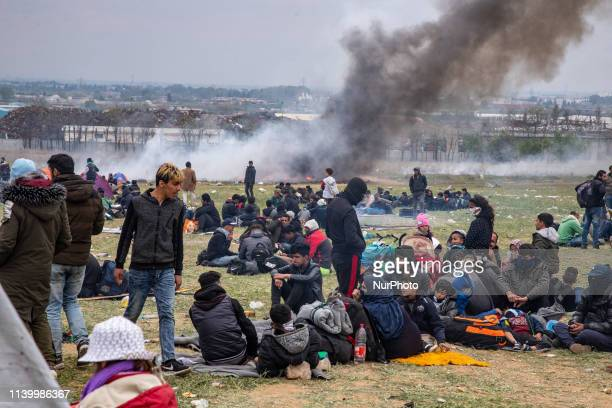 Chaos with clashes between refugees, migrants and the police. Refugees tried to march to the Northern Greek borders after a false rumor of open...