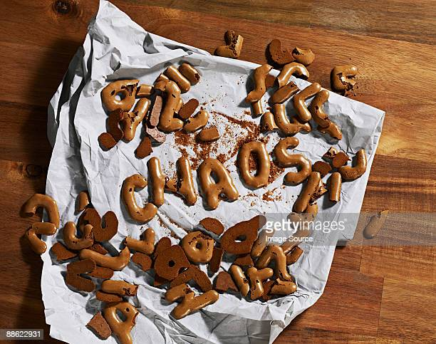 Chaos written in biscuits