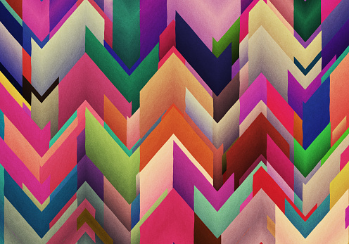 Chaotic Colorful zigzag abstract background - gettyimageskorea
