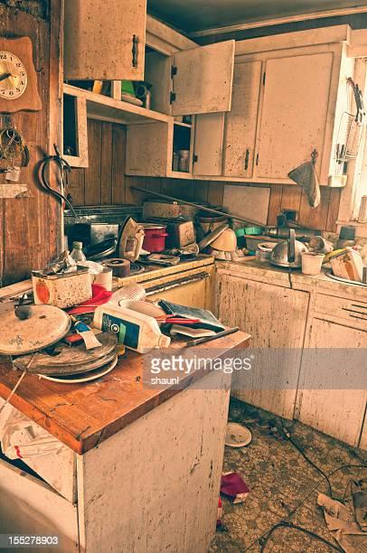Chaotisch Küche