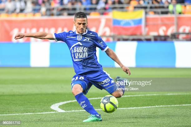 Chaouki Ben Saada of Troyes during the Ligue 1 match between Troyes AC and AS Monaco at Stade de l'Aube on May 19 2018 in Troyes