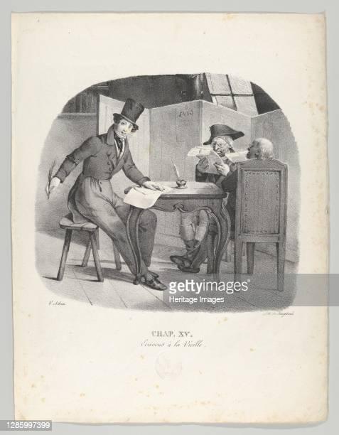 Ecrivons à la Vielle , 1824. Artist Victor Adam.