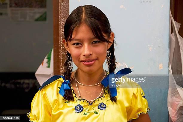 Chapaca Girl At The Jueves De Comadres Market During Carnaval Chapaco Tarija Bolivia