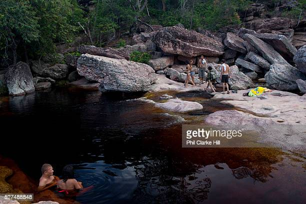Chapada Diamantina national park in Bahia Brazil is a very large park conprising miles of trails several settlements and spectacular scenery Mosquito...