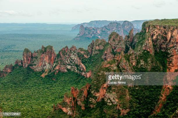 chapada dos guimarães cliffs - cerrado stock pictures, royalty-free photos & images