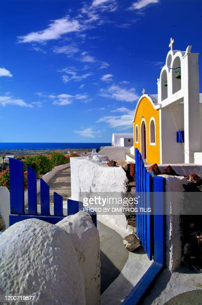 chapel at finikia - dimitrios tilis stock pictures, royalty-free photos & images