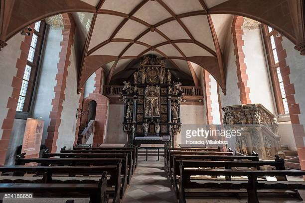 Chapel at Schloss Johannisburg in Aschaffenburg Germany 14 May 2015 one of the most important buildings of the Renaissance period in Germany erected...