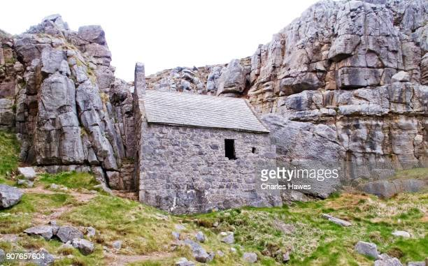 Chapel at St Govan's Head:The Wales Coast Path in Pembrokeshire