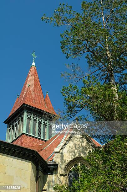 chapel bell tower - wellesley massachusetts stock pictures, royalty-free photos & images