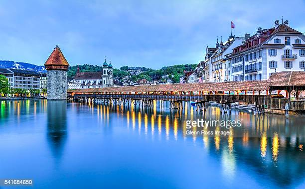 Chapel Bridge, Kapellbrücke, Lake Lucerne, Switzerland