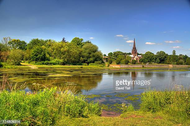 chapel clumber park - chapel stock pictures, royalty-free photos & images