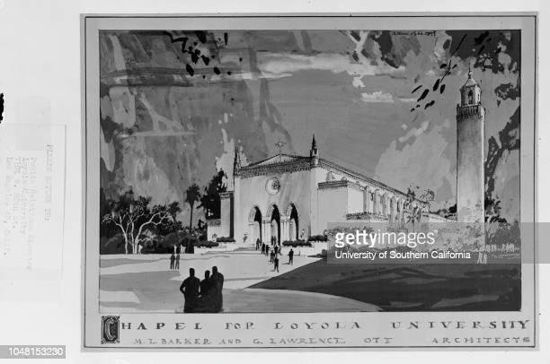 Chapel for Loyola Marymount University 02 November 1951Los Angeles California USA
