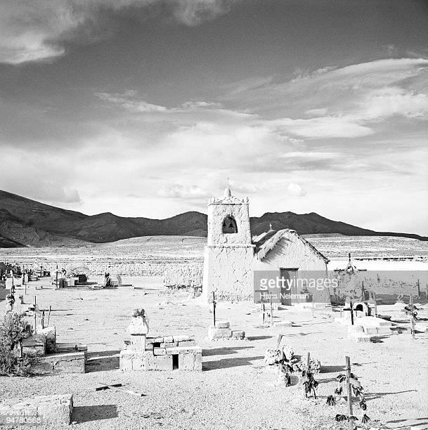 chapel in a cemetery, uyuni, potosi department, bolivia - potosí potosí department stock pictures, royalty-free photos & images