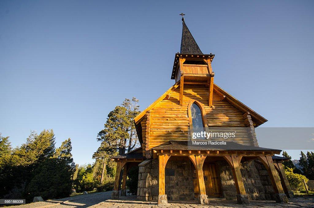 Chapel in San Carlos de Bariloche : Stock Photo